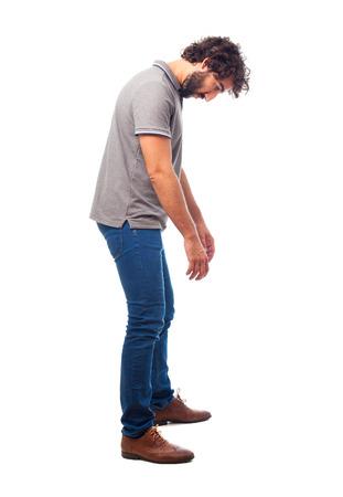 irritate: young crazy man boring pose