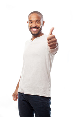 young cool black man all rignt sign