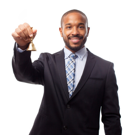 young cool black man with a bell Stock Photo