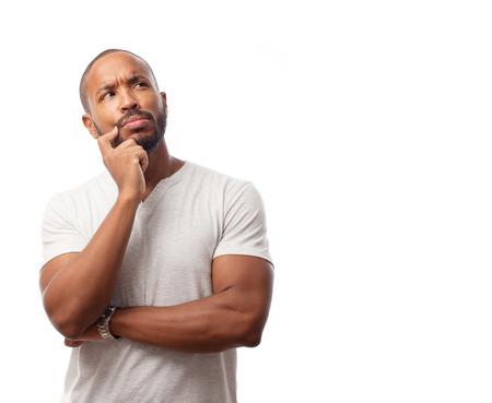 若いクールな黒人男性を疑う