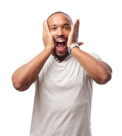 young cool black man surprised