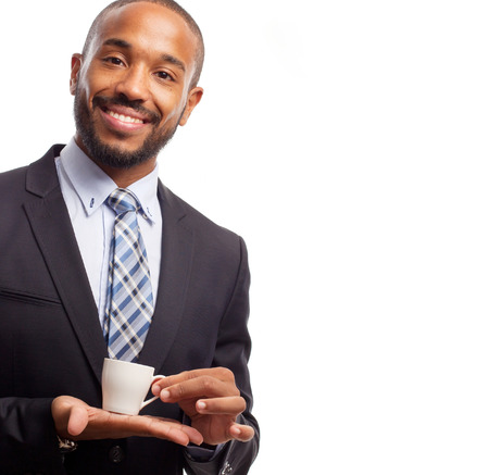 young cool black man having a coffee Stock Photo