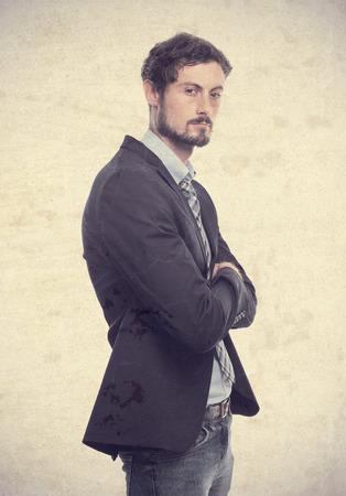 young crazy businessman confident man photo