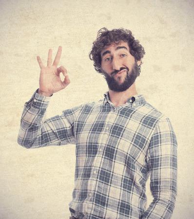 bearded: young bearded man Stock Photo