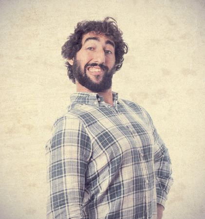young bearded man Stock Photo