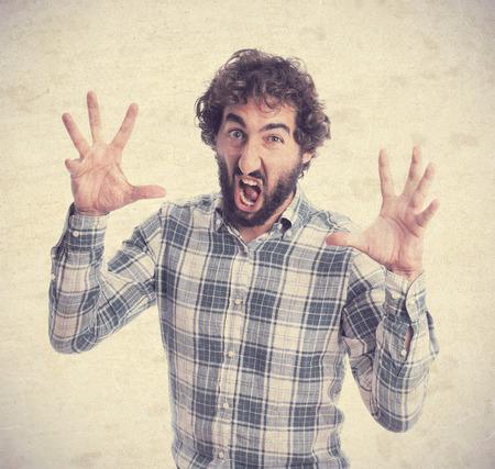 impasse: young bearded man Stock Photo