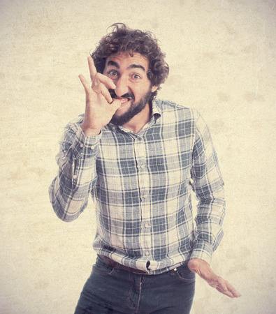 banter: young bearded man Stock Photo