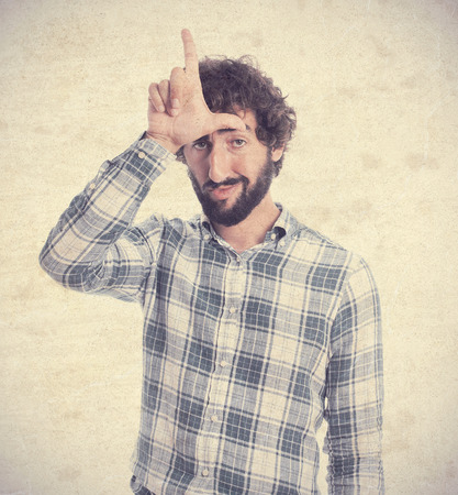 looser: young man looser gesture Stock Photo