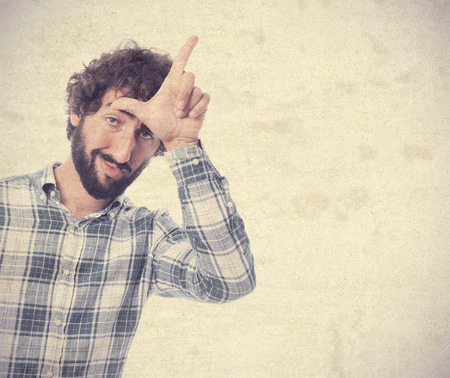 young man looser gesture photo