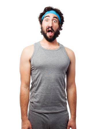 sportsman: surprised sportsman