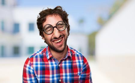 crazy man laughing photo