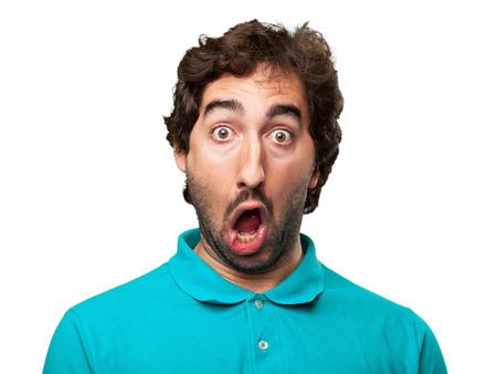 amazed man Stockfoto