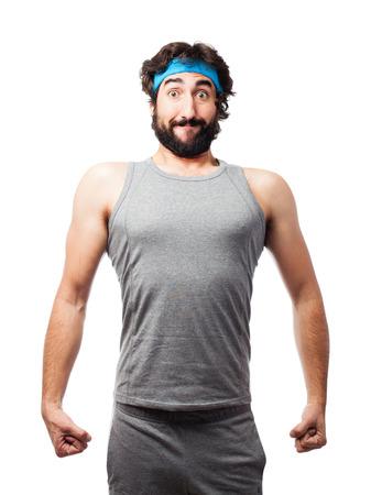 sportman: strong crazy sportman