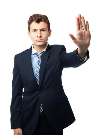 stop gesture: businessman stop gesture