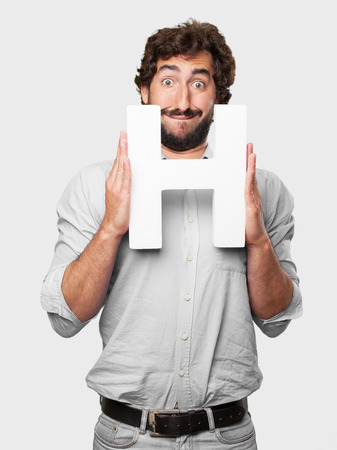 crazy man with a letter photo