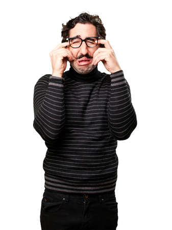 pedantic: pedantic man frustrated face