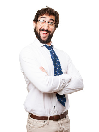 conceited: happy businessman Stock Photo