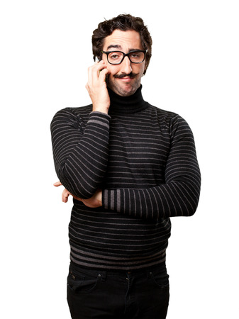 pedantic: pedantic man speaking on phone