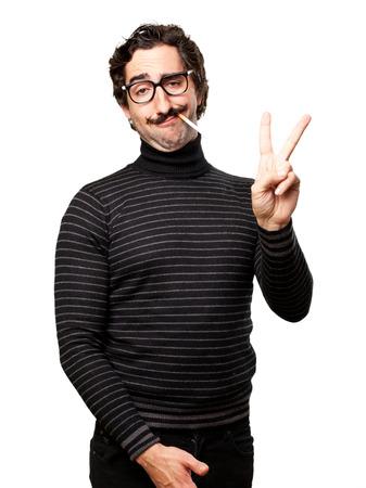 pedantic: pedantic man smoking