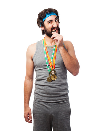 sportsman: sportsman with medals