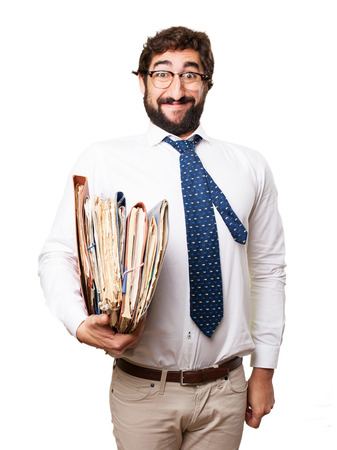 archives: fool businessman with archives