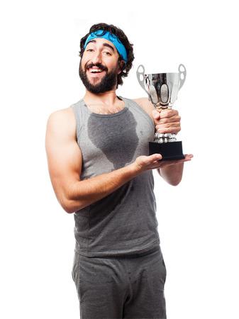 sportsman: winner sportsman Stock Photo