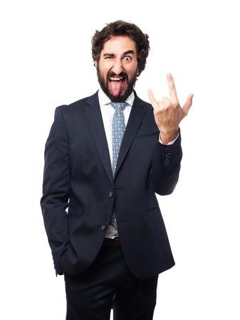 disagreement: disagreement businessman gesture Stock Photo