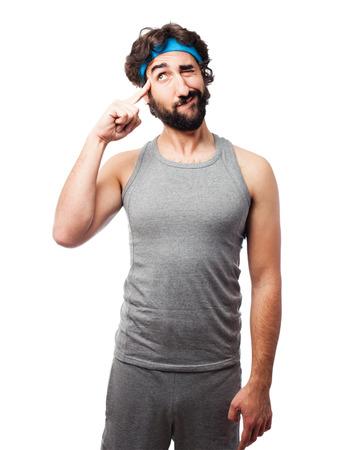 sportsman: sportsman having an idea Stock Photo