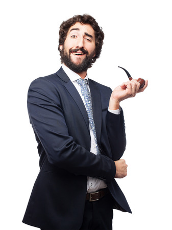 successful businessman with a pure Stock Photo