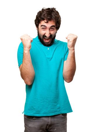 bearded: angry bearded man Stock Photo