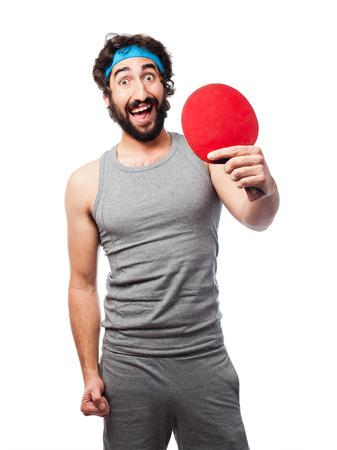 sportsman: sportsman playing table tennis