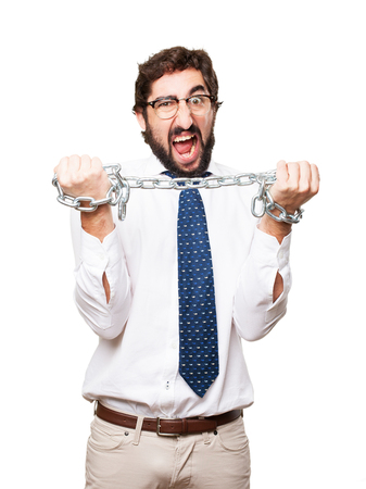 businessman with a chain Stock Photo