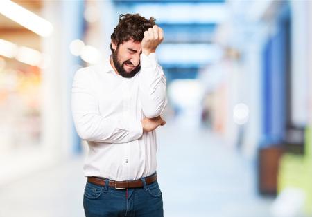 slight: crazy man crying