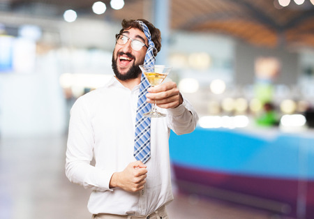 occasion: fool man in a party Stock Photo