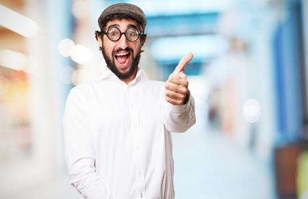 imbécil: hombre tonto loco