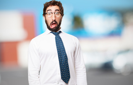 surprised businessman photo