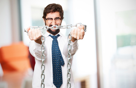 businessman with a chain photo