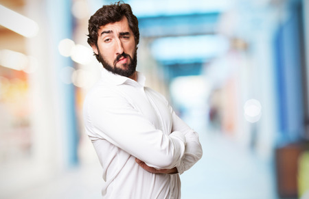 conceited: crazy proud fool man Stock Photo
