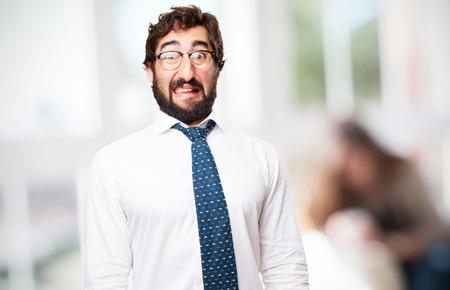 crazy businessman Stock Photo