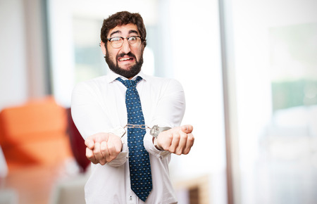 businessman with handcuffs photo