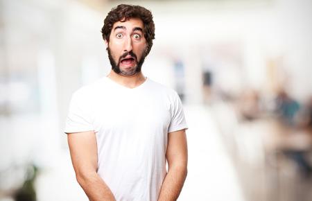 crazy shocked man