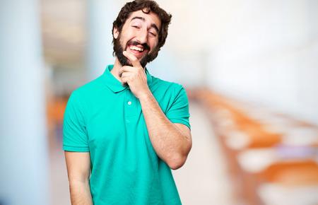 happy bearded man photo