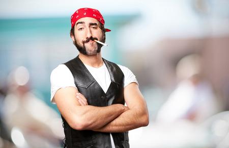 crazy guy: motorbike vintage rider