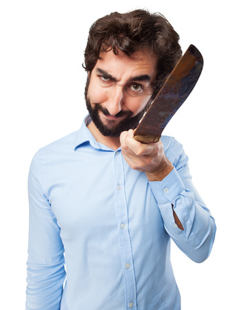 provoked: angry young man with knife