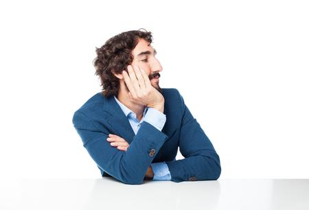 lejos: feliz hombre de negocios que mira lejos
