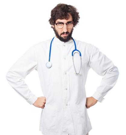 huffy: angry doctor-man disagree pose