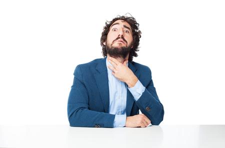 sad businessman: sad businessman stressed concept