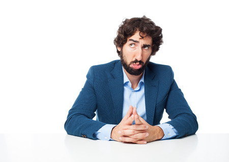 confused businessman doubting Stock Photo