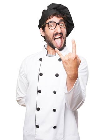 huffy: angry cook man disagree sign