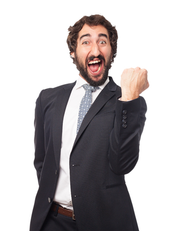 provoked: angry businessman shouting